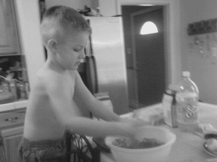 Lol my lil bro thought he was top chef that night bakin some cupcakes.