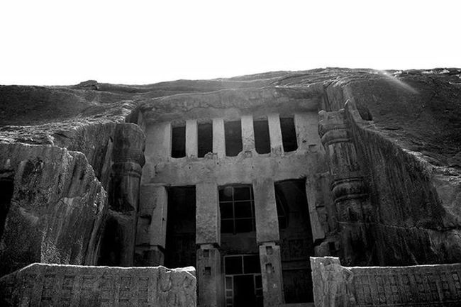 Travel Explore Sgnp Kanhericaves Blackandwhite Afternoon Rockcut Monument Buddist Influence Artandculture India