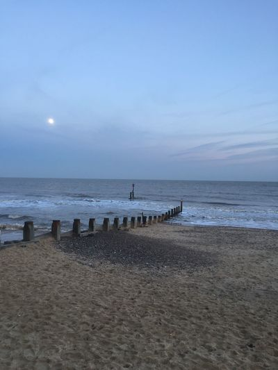 Beach Beauty In Nature Blue Clouds Clouds And Sky Copy Space Horizon Over Water Idyllic Incidental People Nature Outdoors Sand Scenics Sea Shore Sky Southwold Sunlight Tranquil Scene Tranquility Vacations Water Wave Winter
