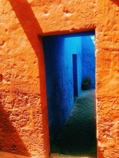 Colors Colorblocking Blue Orange Walls Peru Arequipa Colour Of Life The City Light The Architect - 2017 EyeEm Awards
