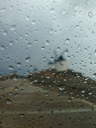 Raindrops Taking Photos Getting Inspired Windmill Consuegra SPAIN From My Car Raining My Best Photo 2015