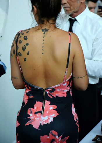 Young Woman Woman Tattoo Tatoo Art Fashion Females Rear View Close-up Corset Body Part This Is My Skin