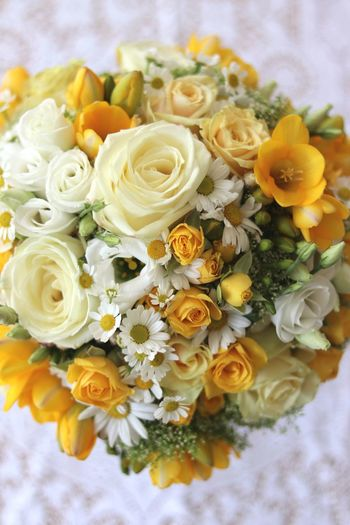 This bouquet is just beautiful. EyeEmNewHere Bouquet Flower Wedding High Angle View Wedding Photography Bridal Bouquet Photography Celebration Hochzeitsfotografie Brautstrauss Flowers Indoors  Close-up