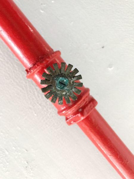 Sprinkler Sprinkler System Red Prevention Close-up Pipeline Indoors  Ceiling