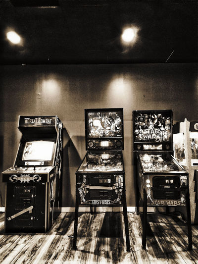 Arcade 1/3 Indoors  No People Arts Culture And Entertainment Day Illuminated Sombrebw Noir Fineart_photobw Sombrebnw Blackandwhite Monotone Noir_vision Bnw Monochromatic Black Grainyblackandwhite Grainedephotographe Grainypic Monochrome Monoart_bw Allblackcommunity