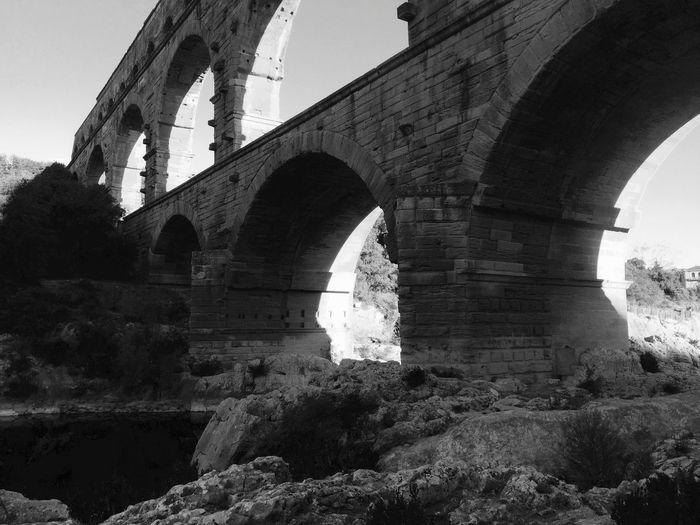 Aqueduc Architecture Nîmes Pont Du Gard Blackandwhite Bridge Day Gardon Outdoors Pontdugard  Romains Uzés
