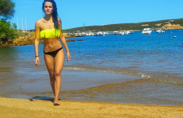 🐚🏊 Costasmeralda Sardinia Sardegna Italy  Outdoor Photography Sea Taking Photos Girlswithtattoos Beautiful Girl Fitgirl Body & Fitness Beachphotography