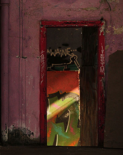 Abandoned Architecture Door Graffiti Industrial Ruins No People Squat Sunray The Secret Spaces