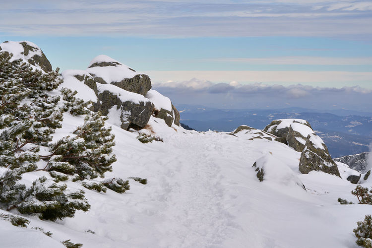 High Tatra in winter Beauty In Nature Nature No People Winter Snow Cold Temperature Scenics - Nature Sky Cloud - Sky Mountain Day White Color Outdoors Snowcapped Mountain