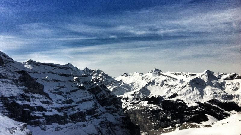 Soaking Up The Sun Skiing Jungfrauregion my favourite hill from the other side of the valley Mountain View Eigergletscher