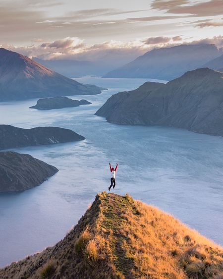 This is Coromandel Peak in Wanaka NZ. I'd like to say I hiked up but I'd be lying! Was lucky to get a chopper ride up here just as the sun came up Finding New Frontiers One Person Mountain Outdoors Landscape One Woman Only Nature Beauty In Nature Exceptional Photographs EyeEm Masterclass Ladyphotographerofthemonth For My Friends That Connect Nature_collection Travel Destinations Amazing_captures Sky New Zealand Scenery Nature On Your Doorstep Mountain Range Sky_collection Landscape_Collection Tadaa Community My Sky Obsession... Mountains Here Belongs To Me