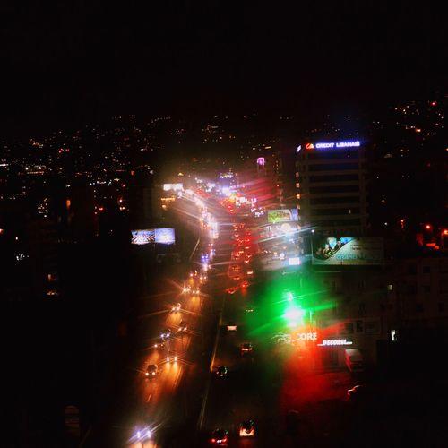 Illuminated Night Land Vehicle City Battle Of The Cities Nightlife Road
