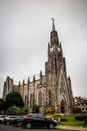 Gramado, Brazil Architecture Building Exterior Built Structure Car Cloud - Sky Day History Low Angle View No People Outdoors Place Of Worship Religion Serra Gaúcha Sky Spirituality Transportation Travel Destinations