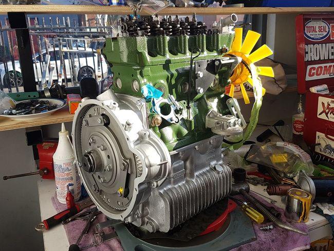 Cooper s mini engine restoration Motorsport Motors Restored Repaired Mechanic Engineering City No People Outdoors Day