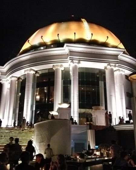 Smartphone Xiaomi Mi2, SkyBar Bangkok Architectural Column Built Structure Architecture Night Illuminated Stage - Performance Space Concert Hall  No People Outdoors Xiaomi Mi2