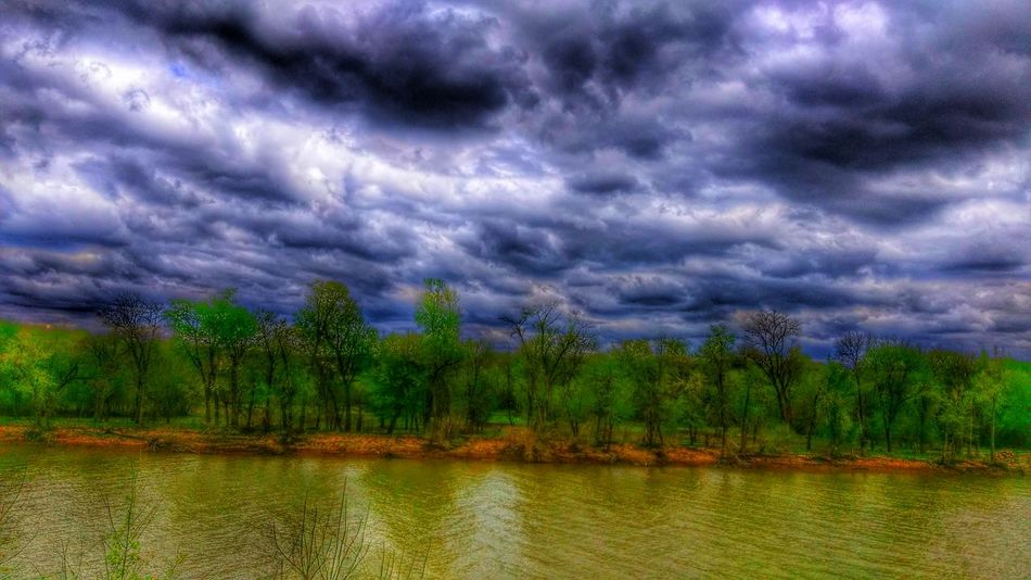 Eye Am Nature Show-me-state Of Mind A River Runs Through It Treescape Sky And Clouds Sunlight And Shadow Go With The Flow Meramec River Of Murder
