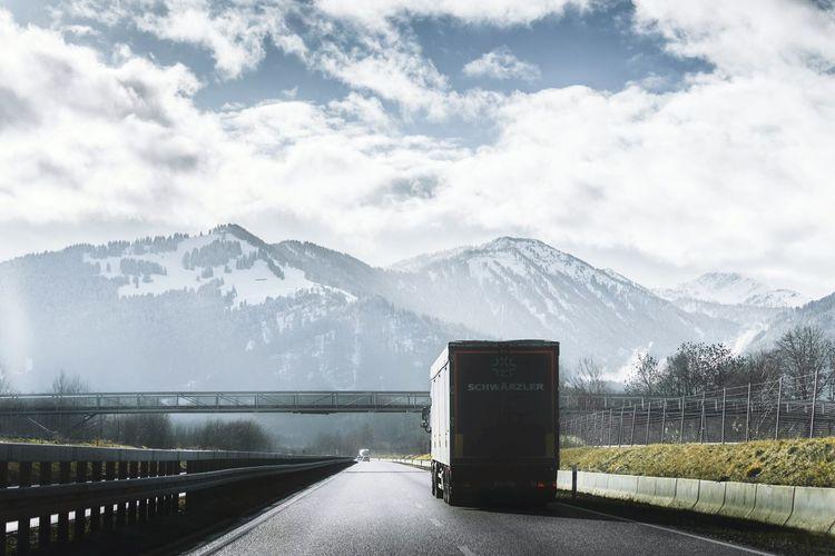 Showcase: January Road Car Mountains Sky