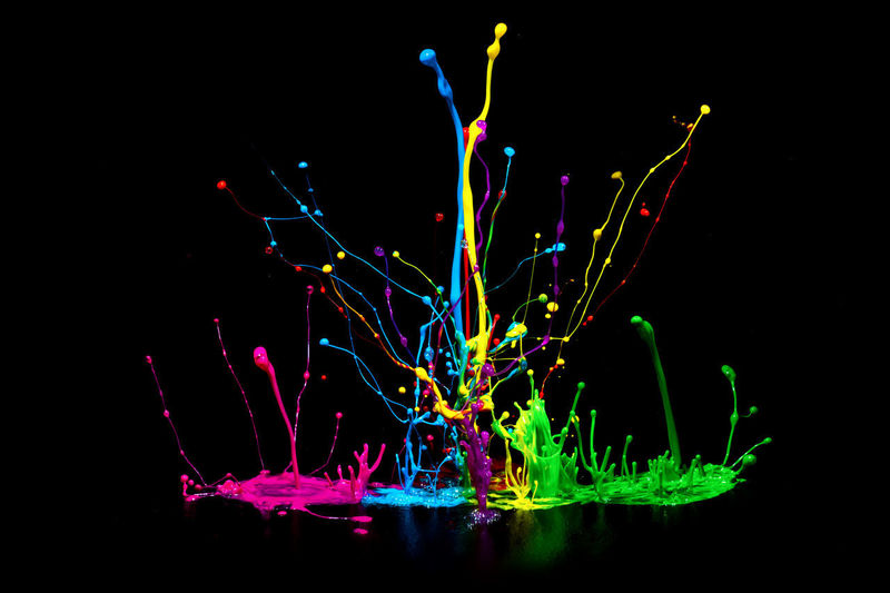 Colorful abstract paint splashing on audio speaker isolated on black background Studio Shot Black Background Multi Colored Motion Indoors  No People Illuminated Splashing Abstract Close-up Paint Glowing Creativity Art And Craft Pattern Green Color Impact Long Exposure Pink Color Light Paint Splash Music Spectrum