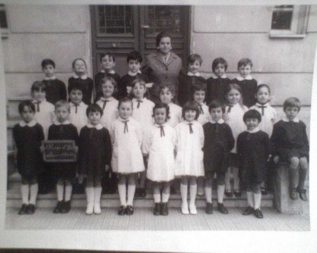 Elementary School Anni 60 Bambini  Maestra Ricordi Scuola Scuola Elementare Vintage Photo