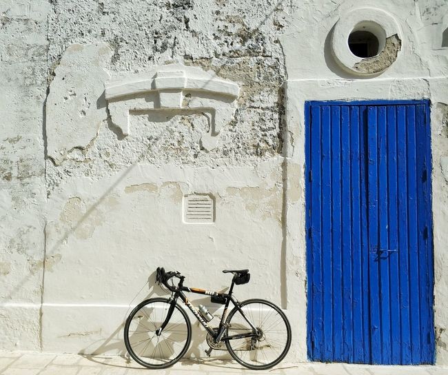 Bike Blue Italy Bicycle Architecture Built Structure Building Exterior Calm Boat Bicycle Rack Parking Ocean Bicycle Basket