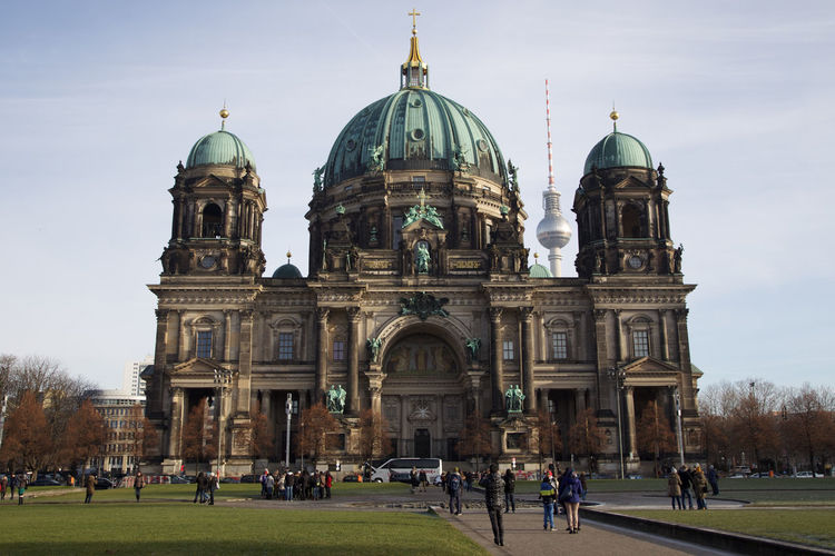 Architecture Arrival Berlin Berliner Dom Built Structure City Classicism Day Deutschland Dome Elaborate Fernsehturm Fernsehturm Berlin  Germany Grandeur Grandiose Large Group Of People Old Vs New Outdoors People Religion Sky Tradition Travel Destinations TV Tower