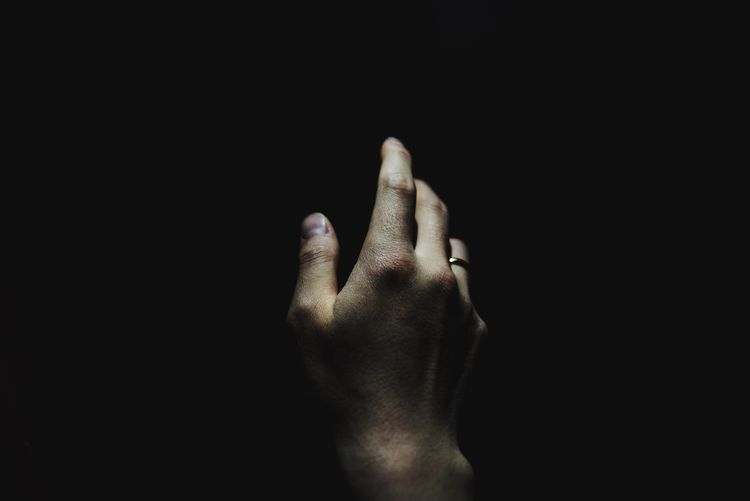 Gesture Gesturing Human Hand Human Body Part Black Background Human Finger Studio Shot Communication One Person Close-up Adult One Man Only Adults Only Inner Power