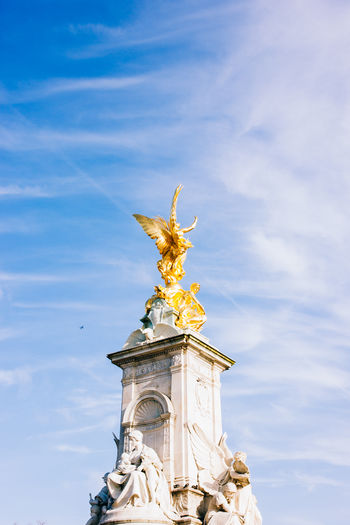 Low Angle View Of Victoria Memorial Against Sky