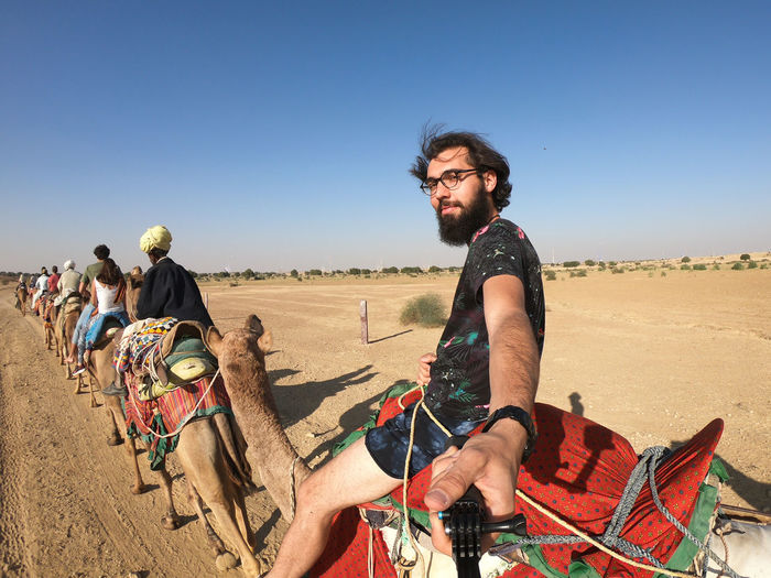 Desert India Sheepherd Travel Animal Themes Arid Climate Camel Clear Sky Jaisalmer Nature Obrigado Outdoors Rajasthan Sand Sand Dune Sheep Sunset Thar Desert Transportation First Eyeem Photo