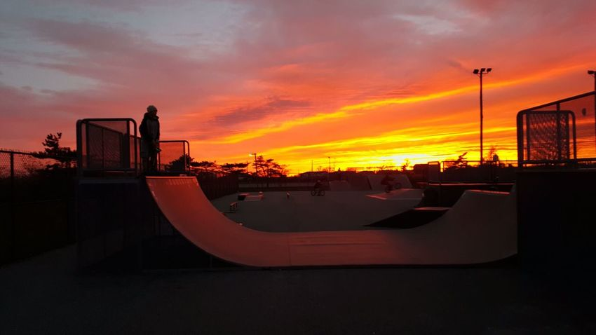 Sunset with my boy atbthe skatepark. Hanging Out Relaxing Enjoying Life Check This Out