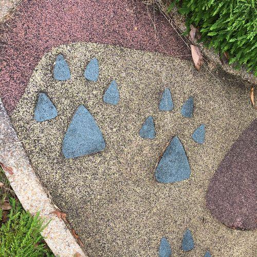 Dinosaur Playground - Dino footprints in EPDM Public Playground EPDM Patterns Creativity Design Dinosaur Footprint Outdoors Playground