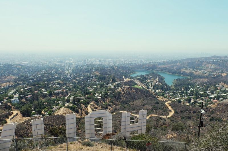 Day Outdoors Scenics Aerial View Tranquility No People Tranquil Scene Mountain View Hollywood Sign Hollywood Architecture Built Structure Building Exterior Residential Building Residential District Town