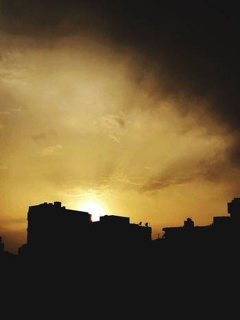 Here comes the sun ❤️ #Egypt Built Structure Cloud - Sky Building Sunset Nature Orange Color Beauty In Nature City First Eyeem Photo