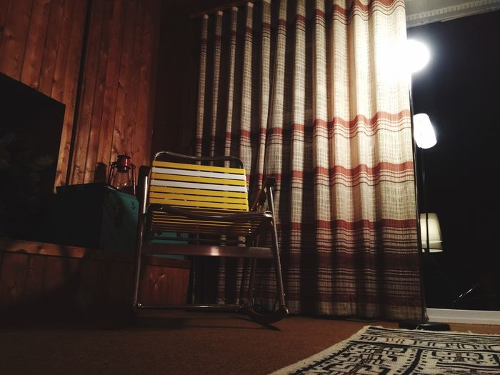 Learn & Shoot: After Dark Chair Lawn Chairs Cabin Indoors  Night Lamp Panelling Rustic Rustic Interior Rustic Home