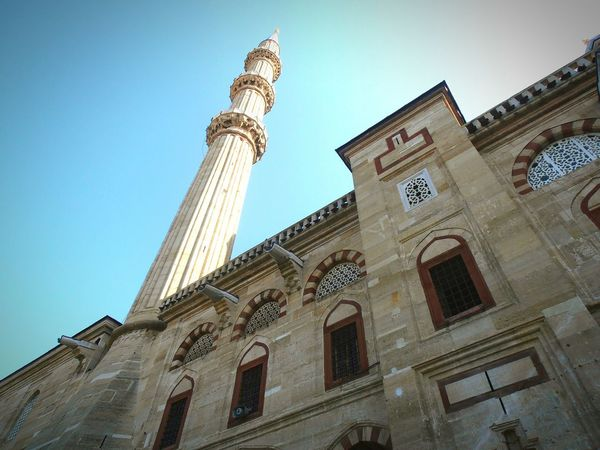 Travel Destinations Architecture History Low Angle View Built Structure Building Exterior Religion Day Travel City Sky Outdoors No People Lights Light Beautiful Mosquee Region Musluman Camii Selimiye Turkey Mozaik Mosque Architecture Politics And Government