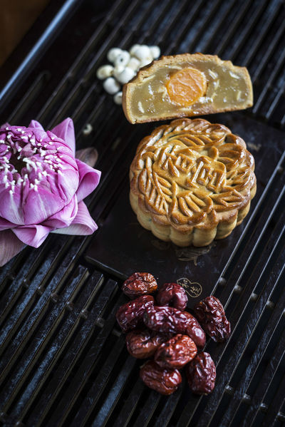 Chinese Food Dessert Moon Cake China Close-up Day Dessert Food Food And Drink Freshness High Angle View Indoors  Indulgence Moon Cakes Mooncake No People Ready-to-eat Sweet Sweet Food Traditional
