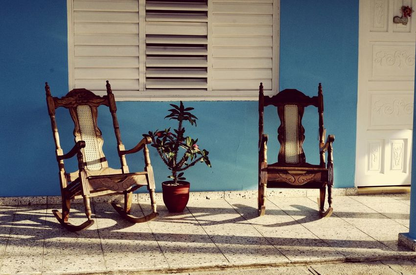 relax Outdoors Land Vehicle Relax Time  Cuba Soleil Sun ☀ Terrasse Rocking Chair Couleurs