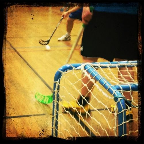 Playing Floorball