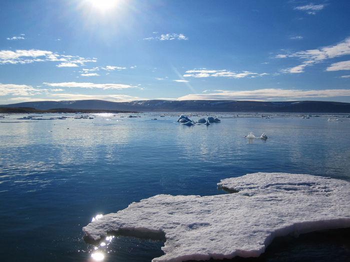 Drifting Ice at