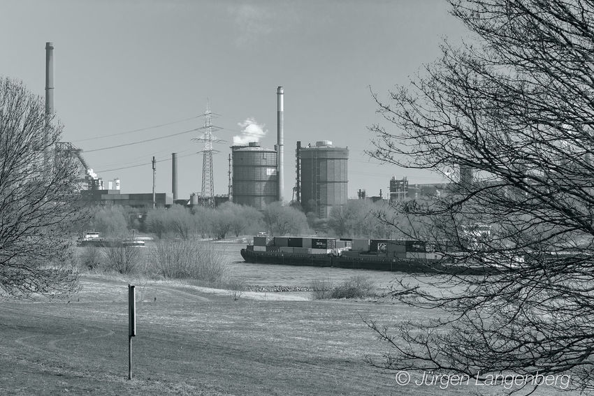 Nature & Industry Building Exterior Built Structure Factory Industry Nature No People Outdoors Smoke Stack Water