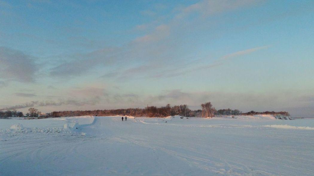 Россия север Ломоносово переправачерезреку Russia River Road