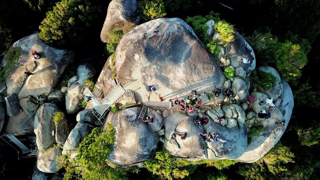 rock at Gunong Datuk Rembau Hiking Hikers JungleTracking EyeEm Selects Aerialphotography Aerial View Topdown Mavicpro Eyebird Nature Plant No People High Angle View Day Art And Craft Sunlight Creativity Outdoors Rock - Object Tree