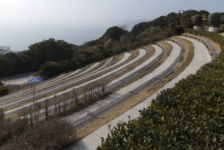 outdoor theater at Jangsado Island in Tongyeong, South Korea South Korea Theater Tongyeong Tranquility Vacant Empty Empty Theater High Angle View Island Jangsado No People Outdoor Outdoor Theater Outdoor Theatre Outdoors Place For Drama Shooting Theatre