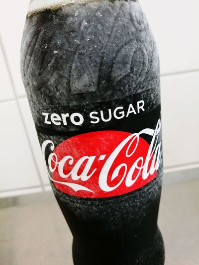 Text Black Color Red Coca Cola Zero Ice Cold Drink
