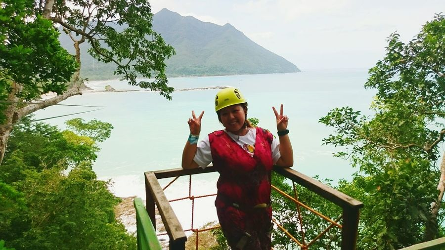 Fine Art Photography Sabang Zipline,Puerto Princesa, Hello World beautiful sea ..vacation overload