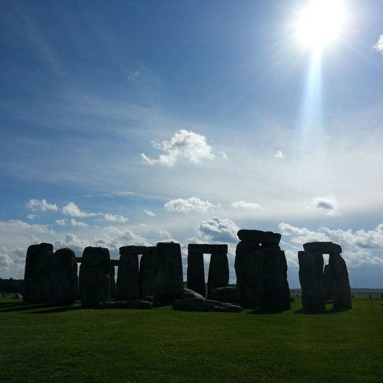 Stonehenge Dark Black In A Row Old Ruin Memorial History Travel Destinations Ancient Cloud - Sky Sun Sun Beams Ancient Civilization Greenery♥ Outdoors No People LONDON❤