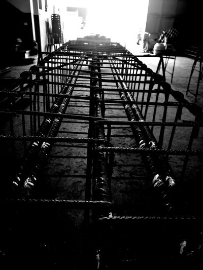 Armed Iron Construction Construction Site Architecture Built Structure CityRailing Outdoors Sky Building Exterior No People Staircase Fire Escape Day Monochrome Blackandwhite HuaweiP9