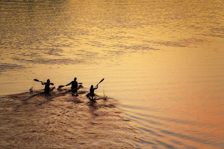 Canoes at