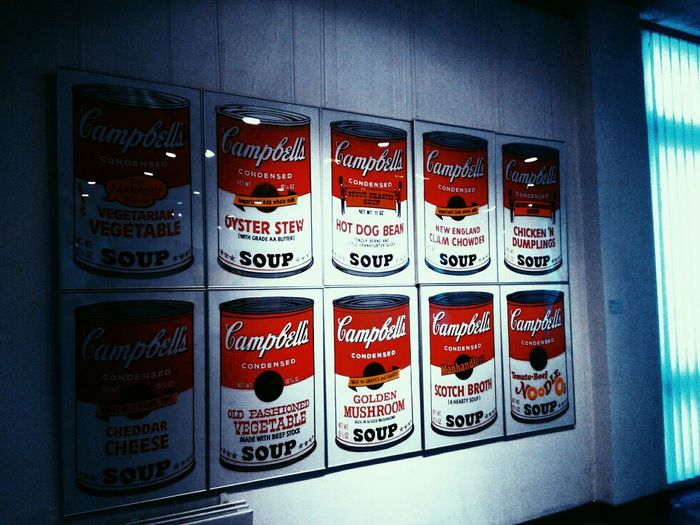 Red Text Close-up American Dream Andywarhol Tomatosoup Popartculture Modern Art Exhibition