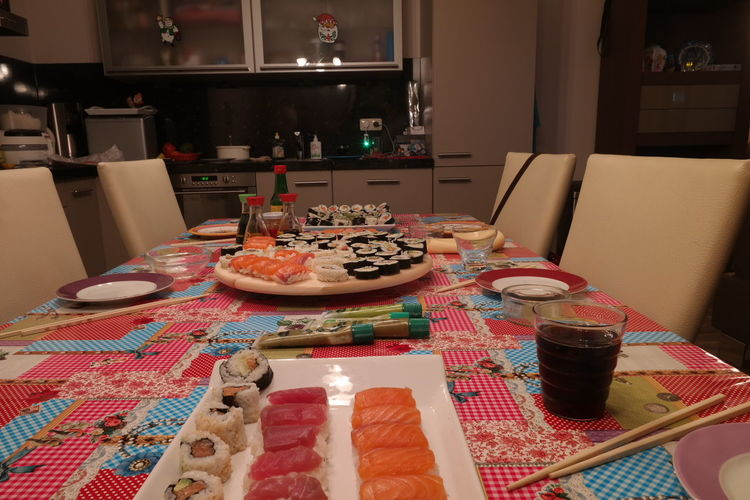 What's For Dinner? Homemade sushi! Do not try this @ home