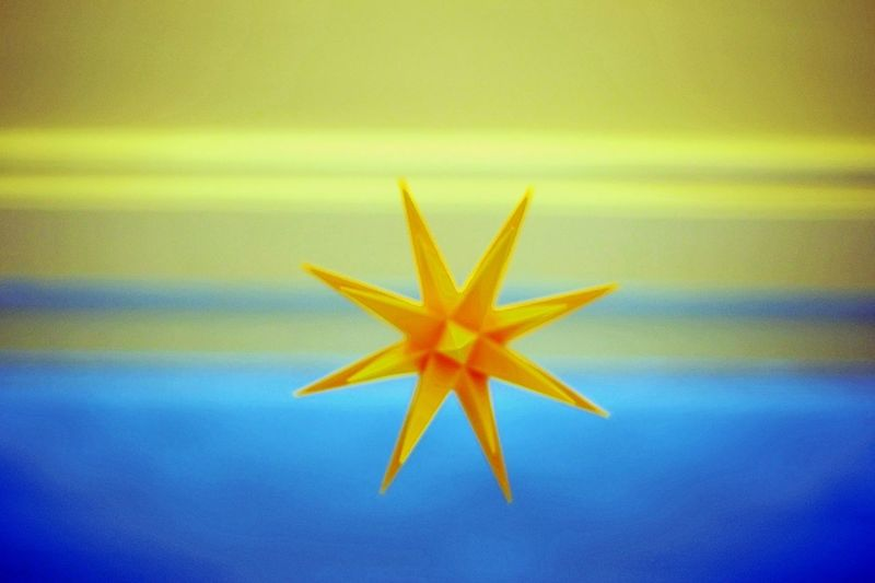 Background Decortation Design Directly Above Focus On Foreground Full Frame Hanging No People Pattern Star Star Shape Still Life Yellow
